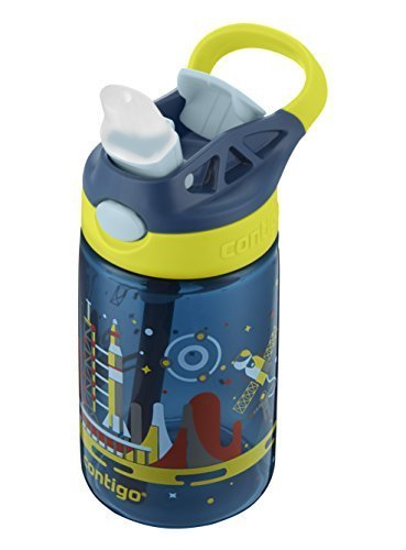Contigo AUTOSPOUT Straw Gizmo Flip Kids Water Bottle 14 oz. Nautical with Space Station Nautical with Space Station