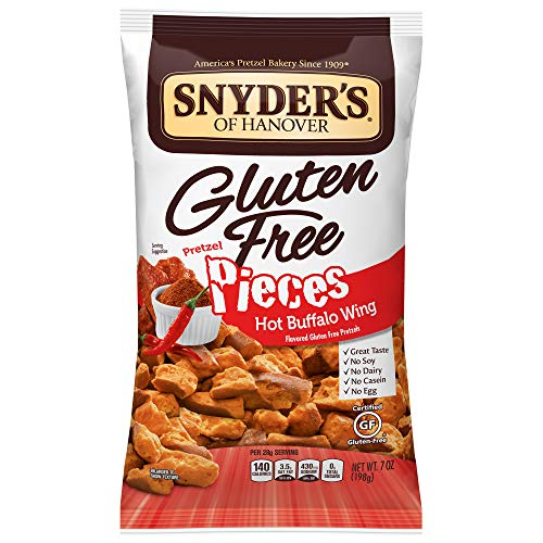 Snyders of Hanover 글루텐 프리 Pretzel Pieces Hot Buffalo Wing 7 Ounce