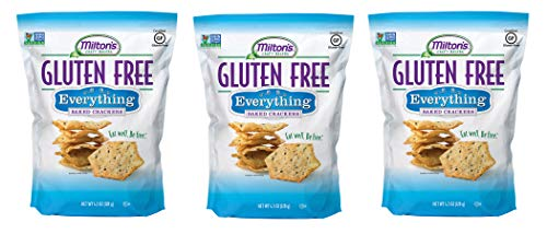 Miltons Gluten프리 Baked Crackers Everything 4.5 Ounces Ea. 팩 of 3